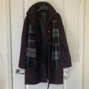 Burgundy London Fog Coat